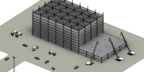 Yapım Aşamasında Revit Bina Modeli